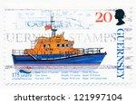guernsy   circa 1999  a stamp... | Shutterstock . vector #121997104