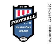 football championship emblem... | Shutterstock .eps vector #1219974310
