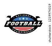 national championship. american ... | Shutterstock .eps vector #1219974319