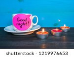 relaxation and good night... | Shutterstock . vector #1219976653