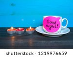 relaxation and good night... | Shutterstock . vector #1219976659