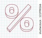 hand drawn percent   Shutterstock .eps vector #121998166