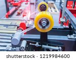 strapping machine for... | Shutterstock . vector #1219984600