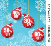 sale label red and christmas... | Shutterstock .eps vector #1219991506