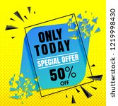 sale banner template blue on... | Shutterstock .eps vector #1219998430