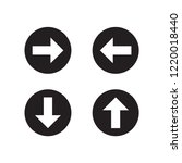 arrow icon in trendy flat...