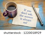 if you do not ask  the answer...   Shutterstock . vector #1220018929