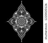 mandala pattern white good mood   Shutterstock .eps vector #1220020126