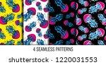 Pattern Seamless Set Jellyfish...