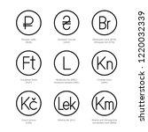 currency exchange icons. money... | Shutterstock .eps vector #1220032339