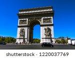 paris  france. august 6  2018 ... | Shutterstock . vector #1220037769