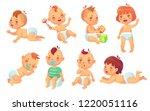 cute baby. happy cartoon babies ... | Shutterstock .eps vector #1220051116