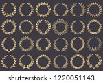 golden laurel wreath. movie... | Shutterstock .eps vector #1220051143