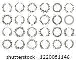 laurel wreath. vintage heraldry ... | Shutterstock .eps vector #1220051146