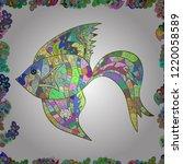 vector illustration. doodle... | Shutterstock .eps vector #1220058589