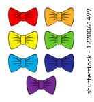set of vector bright bows.... | Shutterstock .eps vector #1220061499