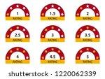 rating stars 1 to 5 | Shutterstock .eps vector #1220062339