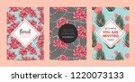 the collection of illustrations ... | Shutterstock .eps vector #1220073133