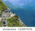 beautiful hike in the alps with ... | Shutterstock . vector #1220079196