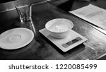 black and white. bakery. flour... | Shutterstock . vector #1220085499