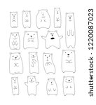 funny bears collection  sketch... | Shutterstock .eps vector #1220087023