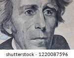 andrew jackson portrait macro... | Shutterstock . vector #1220087596