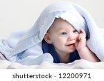beautiful redheaded twin babies ... | Shutterstock . vector #12200971