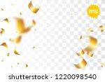 random falling golden glitter... | Shutterstock .eps vector #1220098540