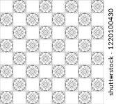black and white chessboard... | Shutterstock . vector #1220100430