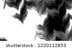 black and white horizontal wavy ... | Shutterstock . vector #1220112853