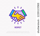 respect thin line icon ... | Shutterstock .eps vector #1220115583