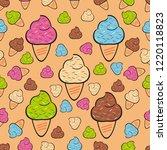 sweet seamless pattern vector... | Shutterstock .eps vector #1220118823