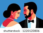 couple in love  lady and... | Shutterstock .eps vector #1220120806