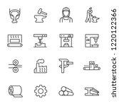 metallurgy  icon set. metal... | Shutterstock .eps vector #1220122366