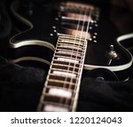 electric guitar fretboard and... | Shutterstock . vector #1220124043