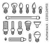 vector light bulbs icons on... | Shutterstock .eps vector #1220126953