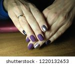 the manicurist excellently made ... | Shutterstock . vector #1220132653