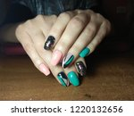 the manicurist excellently made ... | Shutterstock . vector #1220132656