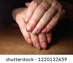 the manicurist excellently made ... | Shutterstock . vector #1220132659