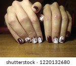 the manicurist excellently made ... | Shutterstock . vector #1220132680