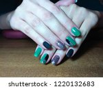 the manicurist excellently made ... | Shutterstock . vector #1220132683