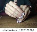 the manicurist excellently made ... | Shutterstock . vector #1220132686