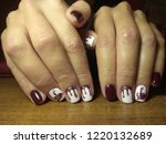 the manicurist excellently made ... | Shutterstock . vector #1220132689
