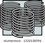 coil compression springs   Shutterstock .eps vector #1220138596
