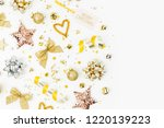 christmas decorations  bows ... | Shutterstock . vector #1220139223
