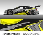 racing car wrap design vector.... | Shutterstock .eps vector #1220140843