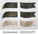 cotton vector  labels set  ... | Shutterstock .eps vector #1220151679