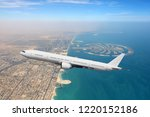 passenger airliner flying over... | Shutterstock . vector #1220152186