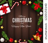 merry christmas and new year... | Shutterstock .eps vector #1220153140