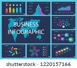 business inforgraphic design...   Shutterstock .eps vector #1220157166